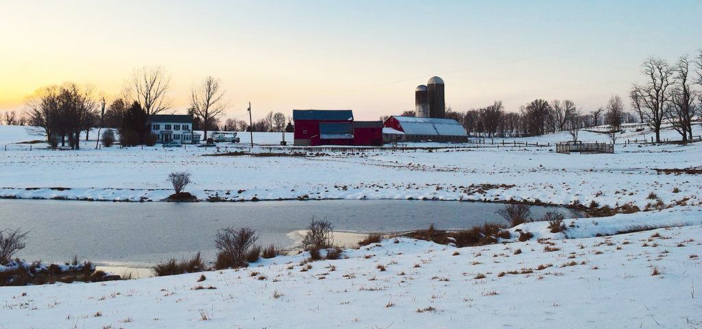 Iowa Winter Farm Scene